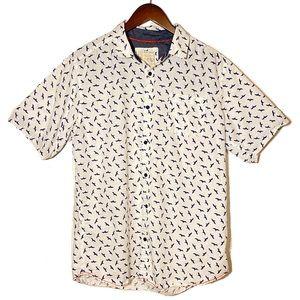 Alexander Julian Bird Print Designer Shirt Size L